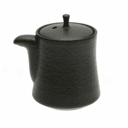 Black Karatsu Ceramic Sauce Dispenser, 5.5 oz.