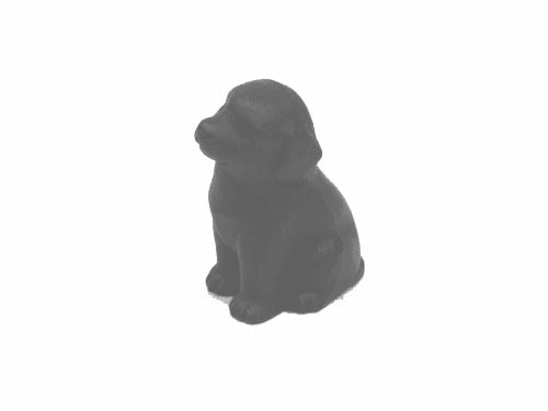 Black Labrador Dog Cast Iron <br> Paper Weight