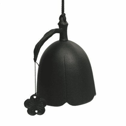 Black Plum Flower Cast Iron  <br>Windchime