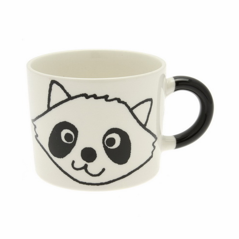 Black Raccon Mug, 12 oz.