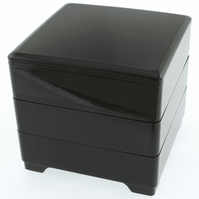 Black & Red Lacquer Ware  Stack/Jubako Box