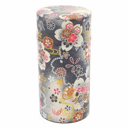 Black & Red Sakura Tea Canister,  <br>200 Grams