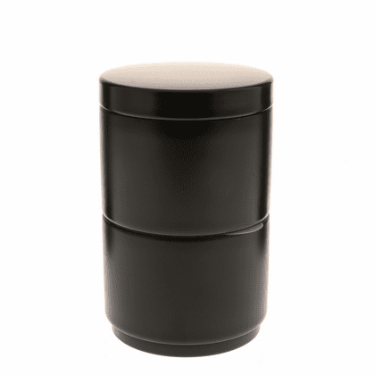 Black Stack Tea Canister, 120 Grams