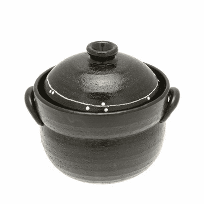 Black & White Stripe/Dots<br> Rice Pot 2 gou