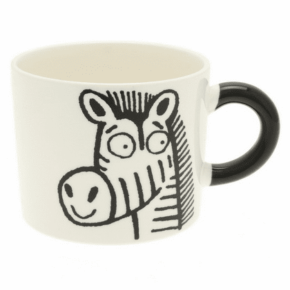 Black Zebra Mug, 12 oz.
