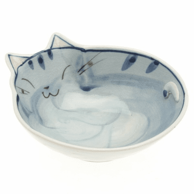 Blue and Grey Cat with Spots <br>Sauce Bowl