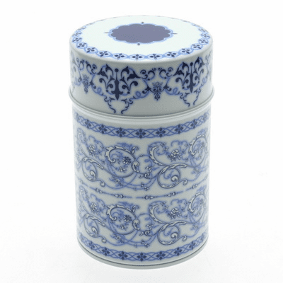 Blue and White Filigree Tea Canister,  <br>150 grams