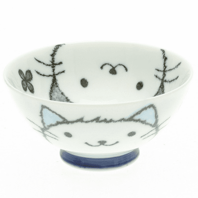 Blue Cat Face Rice Bowl