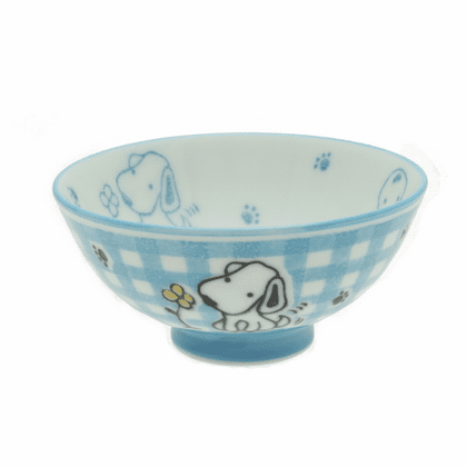Blue Checkerboard Pup Rice Bowl