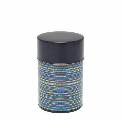 Blue Color Rings Tea Canister,  <br>100 Grams