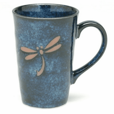 Blue Dragonfly Ceramic Mug, 12 oz.