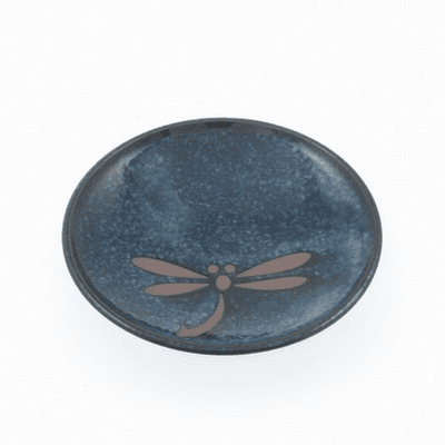 Blue Dragonfly Saucer 4""