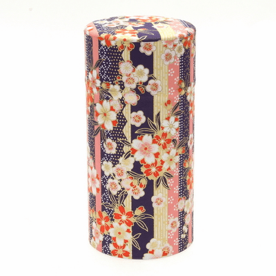 Blue & Pink Sakura Tea Canister,  <br>200 Grams