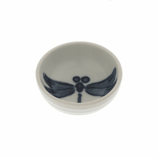 Blue & White Dragonfly Sauce Dish