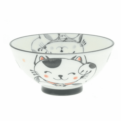 Blue & White Lucky Kitty Bowl