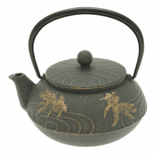 Bronze Goldfish Cast Iron Tea Pot <br>by Iwachu, 20 oz.