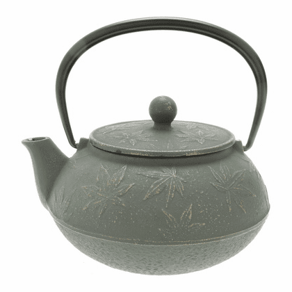 Bronze Maple Leaf Cast Iron Teapot by Iwachu 20 oz.