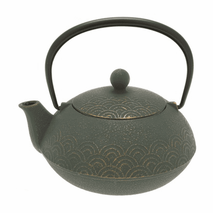 Bronze Waves Cast Iron Teapot, 20 oz.