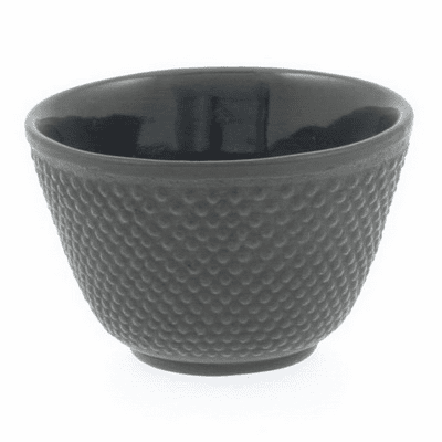 Brown Hobnail Cast Iron Tea Cup<br> by Iwachu, 4 oz.