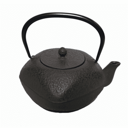 Brown Square Cast Iron Teapot with <br>Rounded Edges, 32 oz.