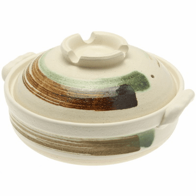 Brush Stroke Donabe Pot/Casserole, <br>10-3/4""