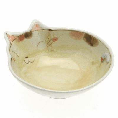 Caramel Cat with Spots Sauce Bowl