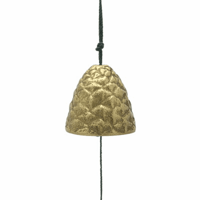 Cast Iron Gold Pine Cone Wind Chime