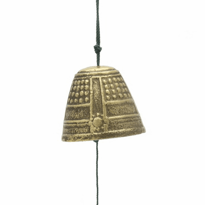 Cast Iron Gold Temple Bell Wind Chime