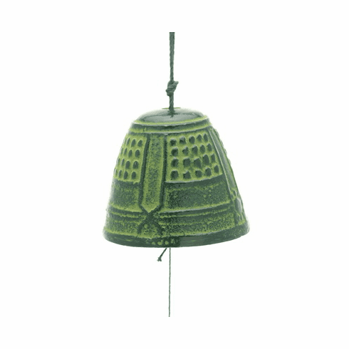 Cast Iron Green Temple Bell  <br>Wind Chime