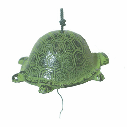 Cast Iron Green Turtle Windchime