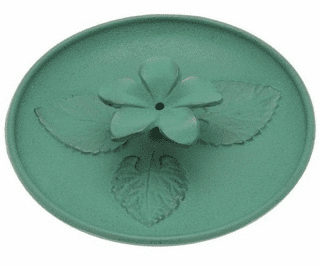 Cast Iron Green Violet Incense Holder