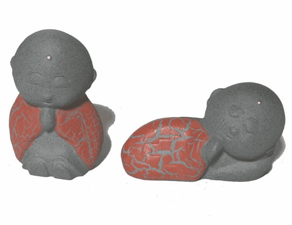 Cast Iron Jizo Paperweight  <br>Sitting/Sleeping