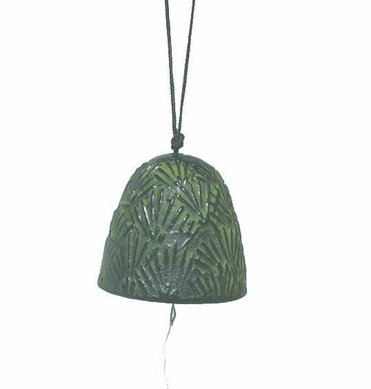 Cast Iron Wind Chime Patina  <br>Green Pine Needle