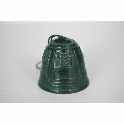 Cast Iron Wind Chime Patina Green <br> Temple Bell