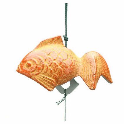 Cast Iron Wind Chime <br>Red Gold Fish