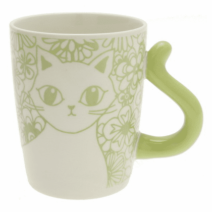 Cat's Tail Floral Green Mug