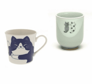 Ceramic Cat Tea Cups &  Mugs