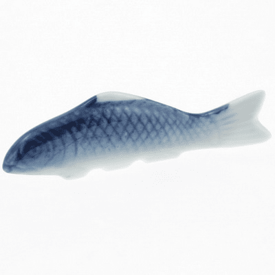 Ceramic Chopstick Rest Blue Carp