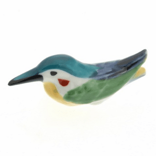Ceramic Chopstick Rest Blue & Teal Kingfisher
