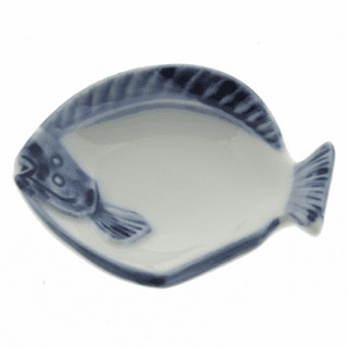 Ceramic Chopstick Rest Blue & White halibut
