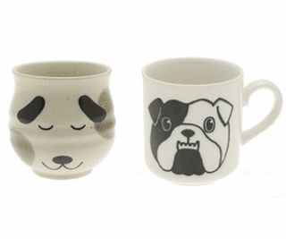 Ceramic Dog Tea Cups & Mugs