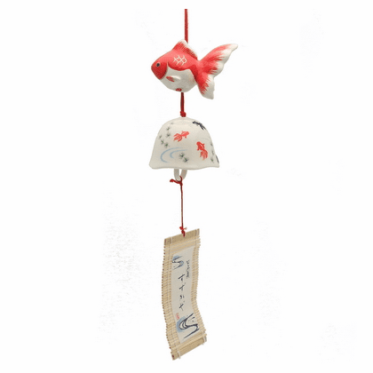 Ceramic Goldfish & <br>Fish Bowl Windchime