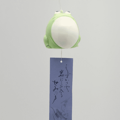 Ceramic Green Frog Wind Chime