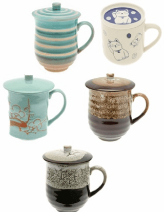 Ceramic Mugs with Lids/Mugs with Infusers