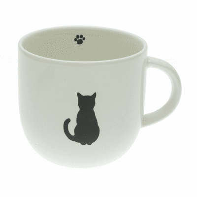 Ceramic Sitting Cat <br>Silhouette Mug, 8 oz.