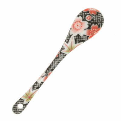 "Ceramic Spoon Sakura/Maple ""Kanoko"""