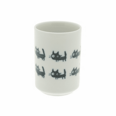 Ceramic Stacked Black Cats Cup