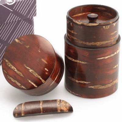 Cherry Blossom Canister and Tea  <br>Scoop Set, 120 Grams