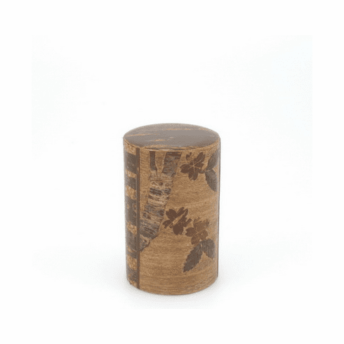 Cherry Wood Cherry Blossom <br>Canister, Holds 90 Grams