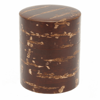 Cherry Wood Tea Canister, Holds  <br>180 Grams